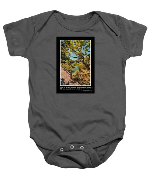 And So In This Moment With Sunlight Above Baby Onesie by Jim Fitzpatrick