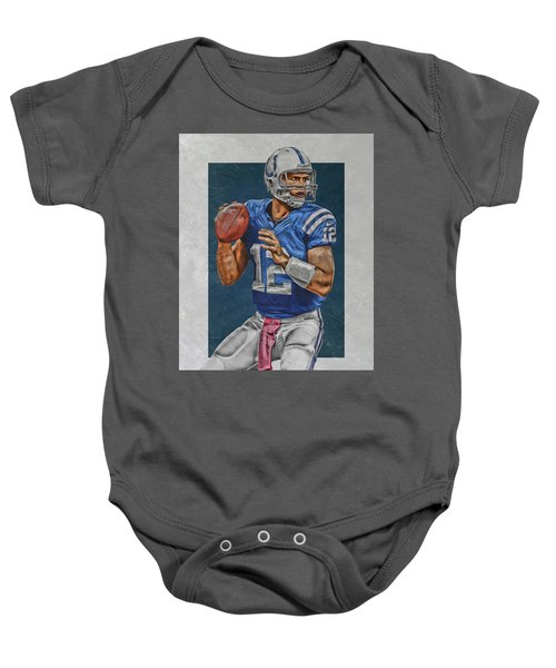 Andrew Luck Indianapolis Colts Art Baby Onesie