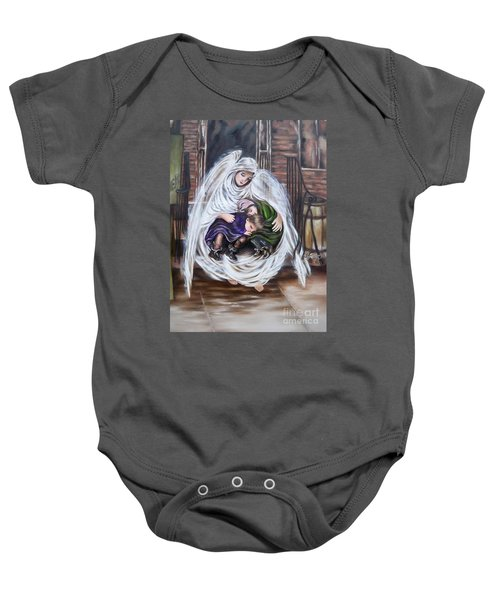 Flying Lamb Productions.        Angel And The Orphans Baby Onesie