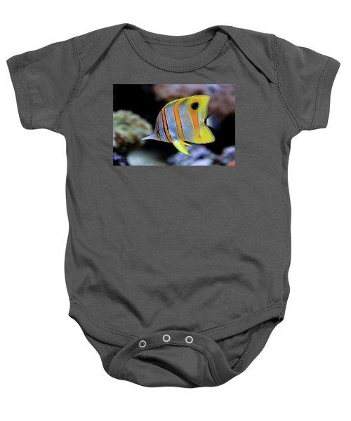 Angel In Striped Pajamas Baby Onesie