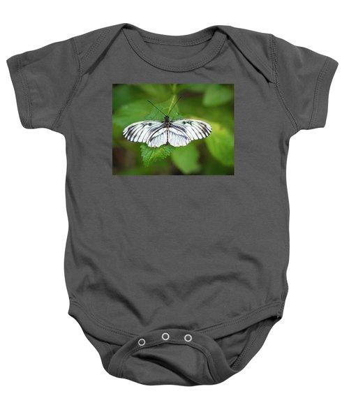 Angry Butterfly With A Mustache Baby Onesie