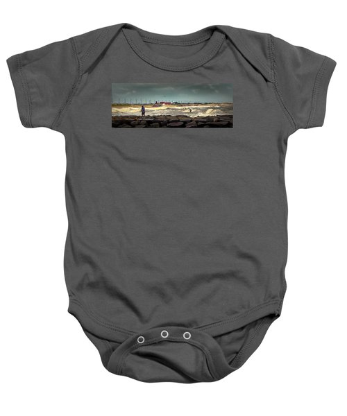 Angry Surf At Indian River Inlet Baby Onesie