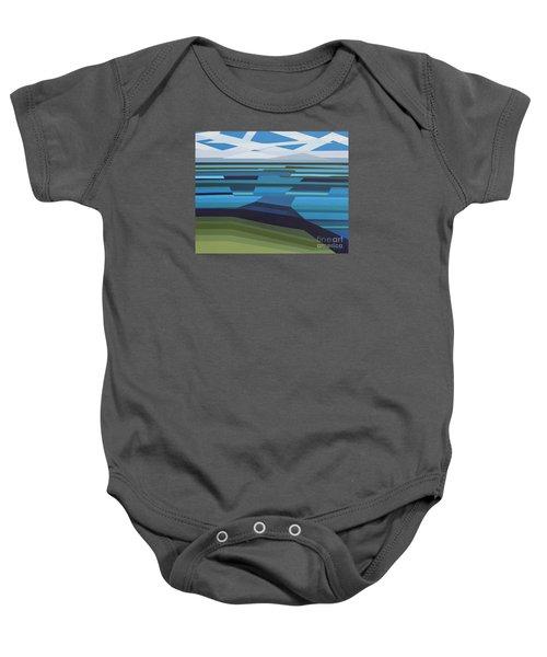 Angular Lake Baby Onesie