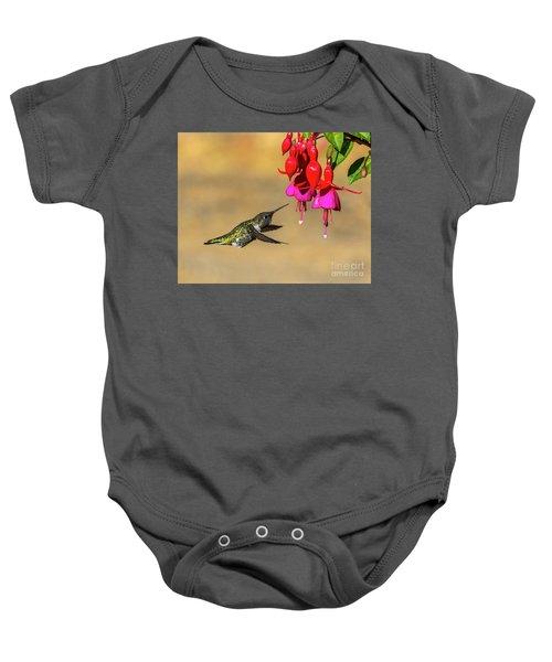 Anna And Hardy Fuchsia Flower Baby Onesie