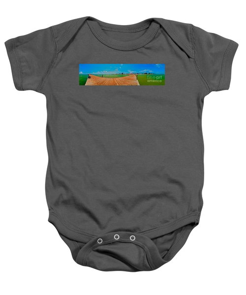 Anna Maria Island Seen From The Historic City Pier Panorama Baby Onesie