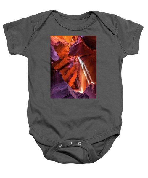 Antelope Canyon Lightshaft 3 Baby Onesie