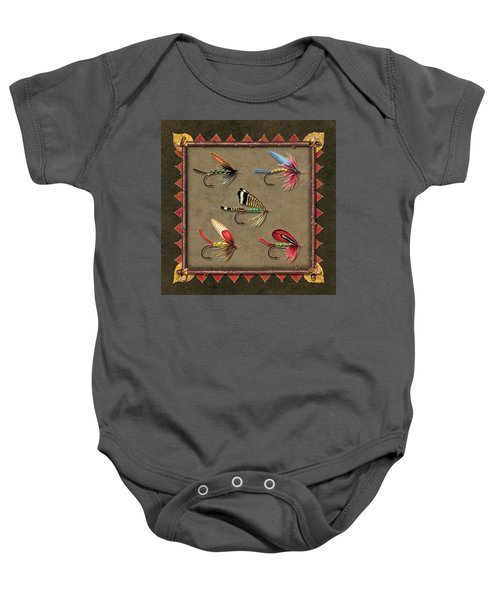 Antique Fly Panel Baby Onesie