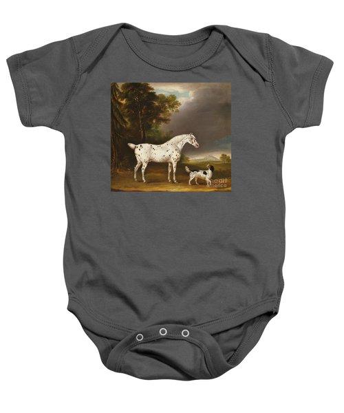 Appaloosa Horse And Spaniel Baby Onesie