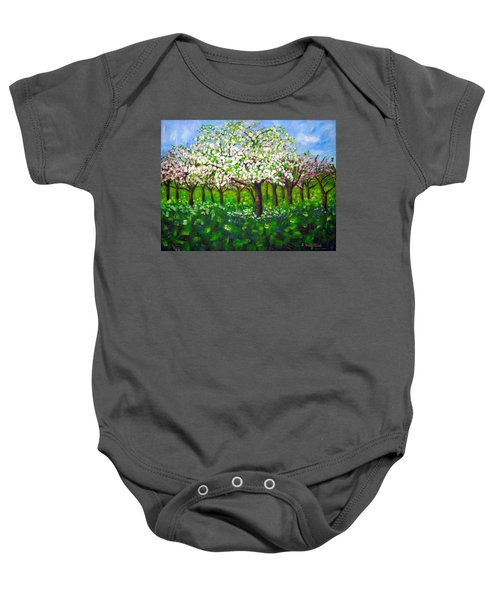 Apple Blossom Orchard Baby Onesie