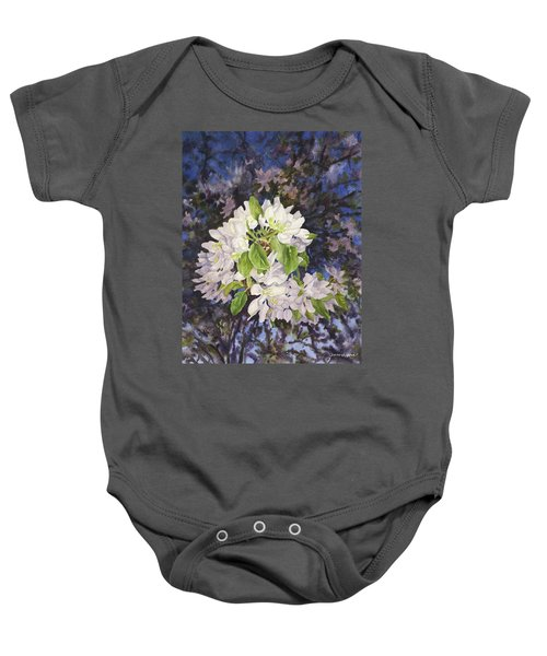 Apple Blossoms At Dusk Baby Onesie