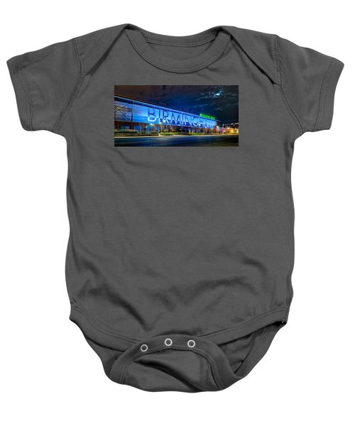 April 2015 -  Birmingham Alabama Baseball Regions Field At Night Baby Onesie