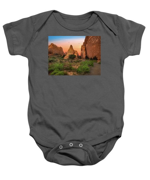 Arches National Park Sunset Baby Onesie
