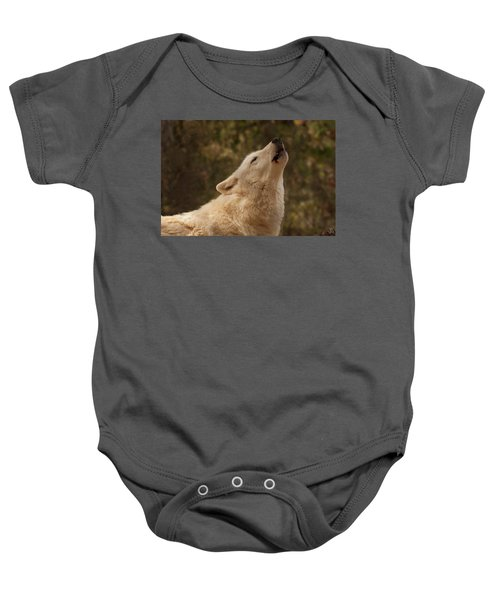Arctic Wolf Howling Baby Onesie