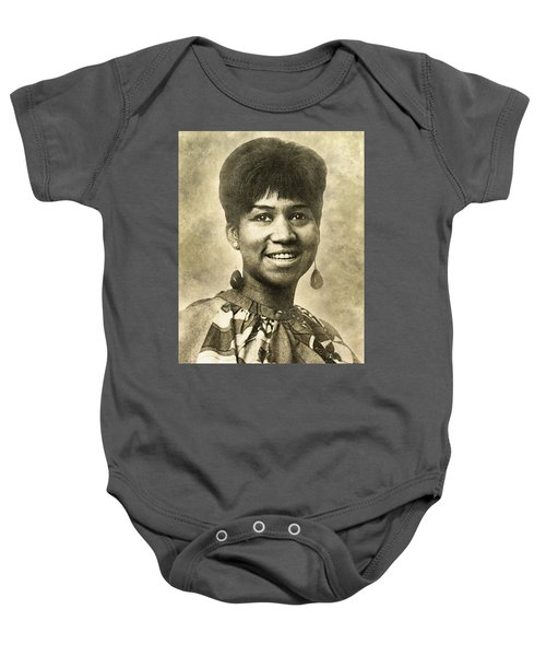 Aretha Franklin Queen Of Soul Baby Onesie