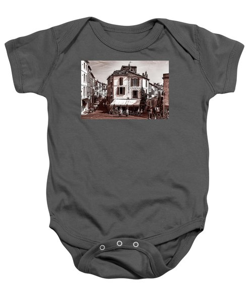 Arles, France, In Sepia Baby Onesie