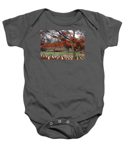 Arlington Cemetery In Fall Baby Onesie