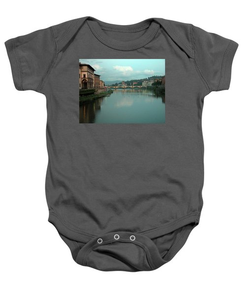 Baby Onesie featuring the photograph Arno River, Florence, Italy by Mark Czerniec