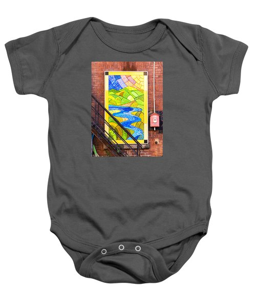 Art And The Fire Escape Baby Onesie