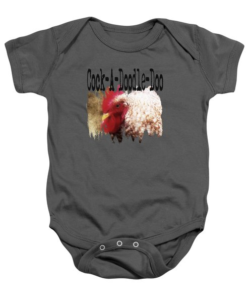 Rooster Rise Baby Onesie by Anita Faye