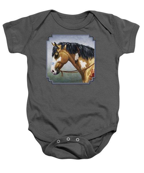 Buckskin Native American War Horse Baby Onesie