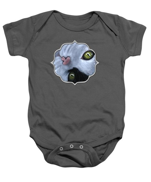 Baby Onesie featuring the painting Looking At You by Anastasiya Malakhova