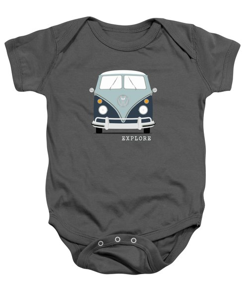 Vw Bus Blue Baby Onesie