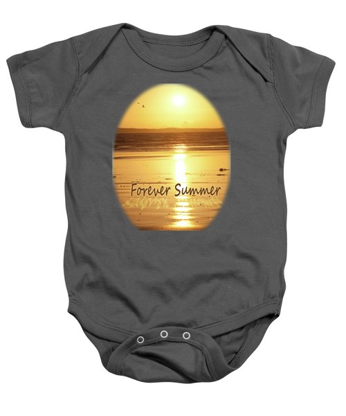 Baby Onesie featuring the photograph Forever Summer 4 by Linda Lees