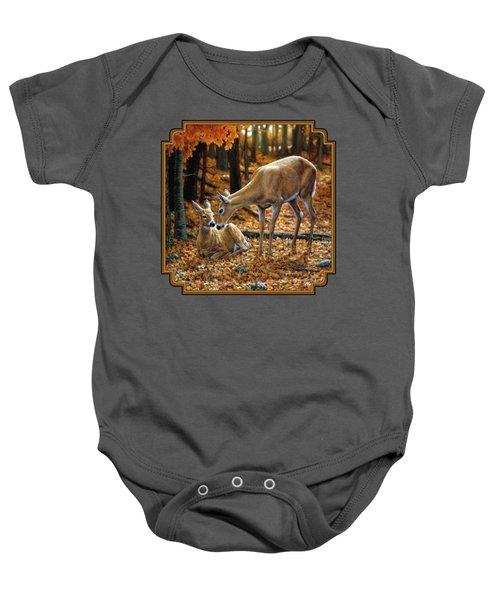 Whitetail Deer - Autumn Innocence 2 Baby Onesie