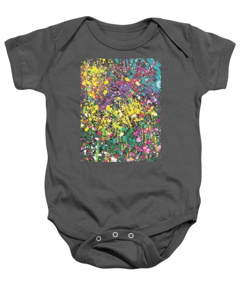 Baby Onesie featuring the painting Flower Bed Abstract by Go Van Kampen