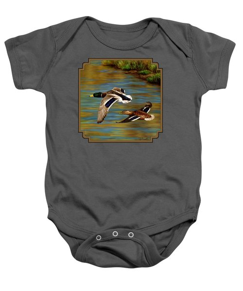 Golden Pond Baby Onesie by Crista Forest