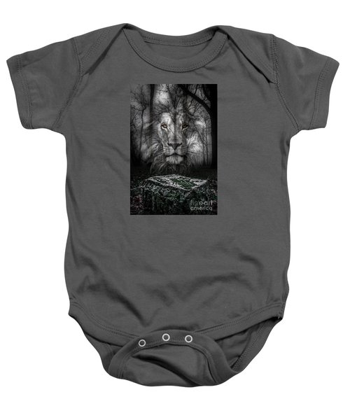 Aslan And The Stone Table Baby Onesie