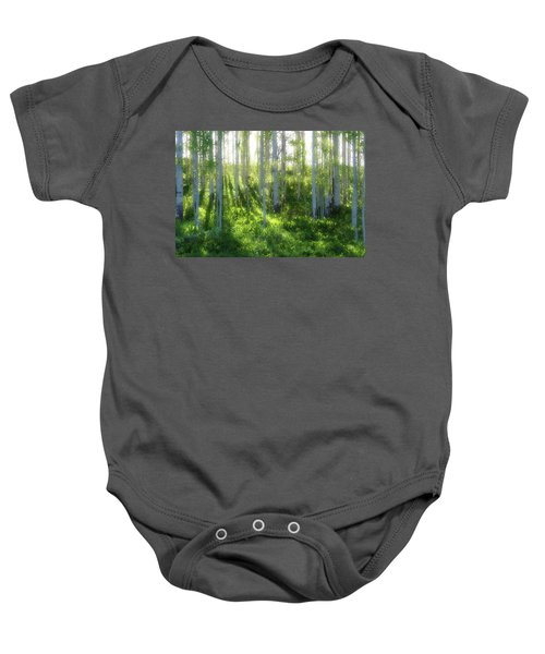 Aspen Morning 3 Baby Onesie