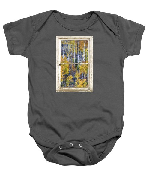 Aspen Tree Magic Cottonwood Pass White Farm House Window Art Baby Onesie
