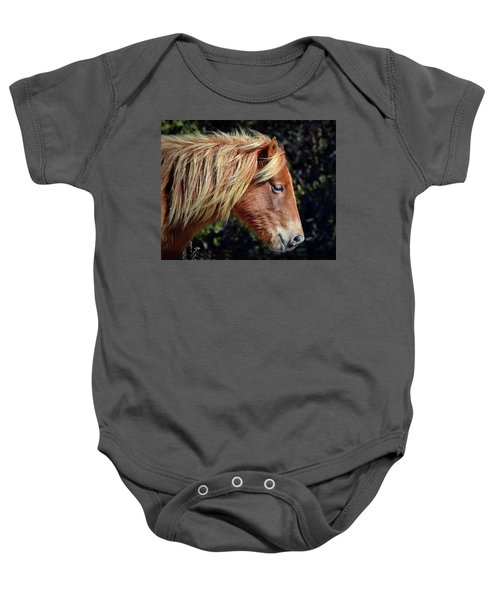 Assateague Horse Sarah's Sweet Tea Right Profile Baby Onesie