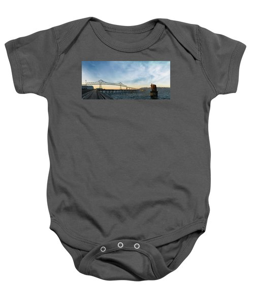 Astoria Megler Bridge By Riverwalk Panorama Baby Onesie