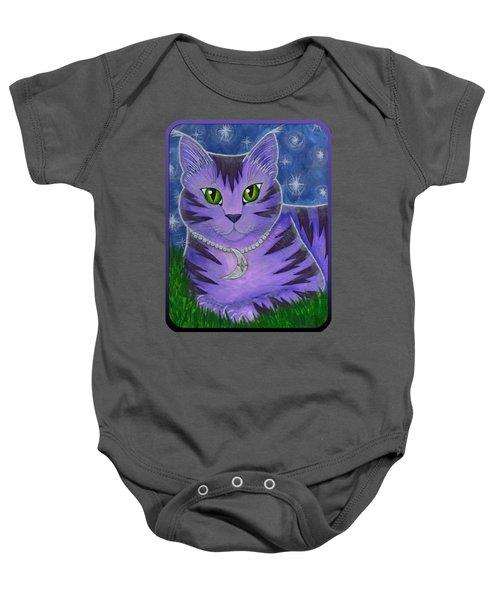 Astra Celestial Moon Cat Baby Onesie