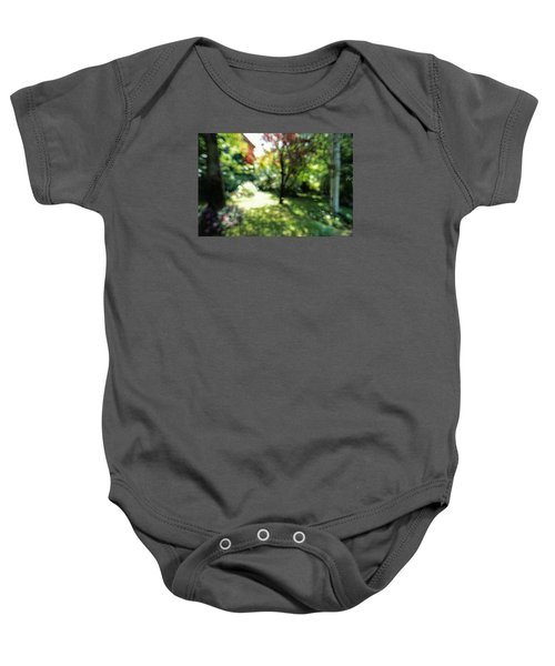 Baby Onesie featuring the photograph At Claude Monet's Water Garden 7 by Dubi Roman