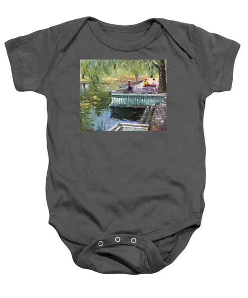 At The Park By The Water Baby Onesie