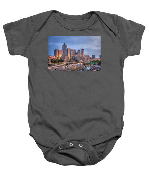 Atlanta 4 Downtown Cityscape Sunset Art Baby Onesie