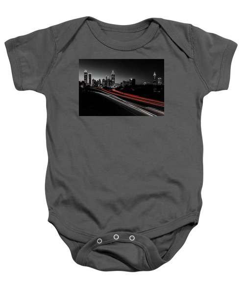Atlanta Black And White Baby Onesie