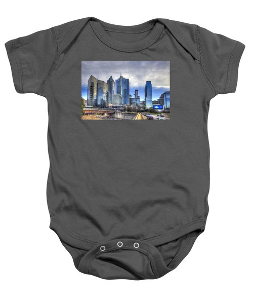 Atlanta Blue Glass Reflections Baby Onesie