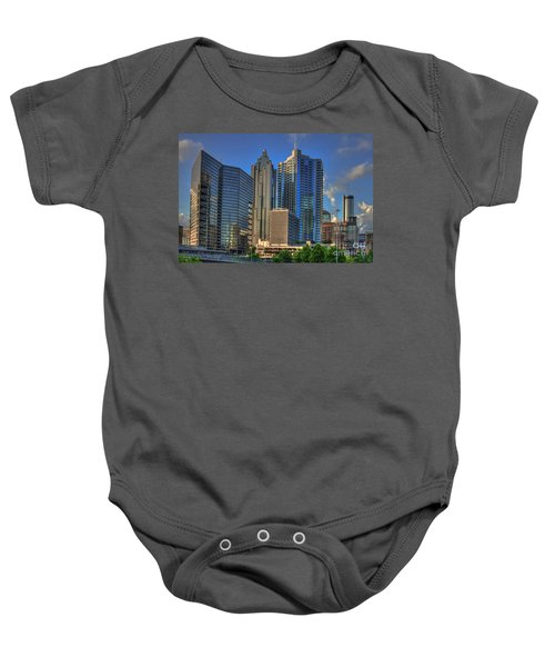 Atlanta Downtown Skyline Reflections Baby Onesie