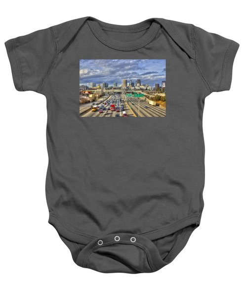 Atlanta Racing The School Bus Transportation Art Baby Onesie