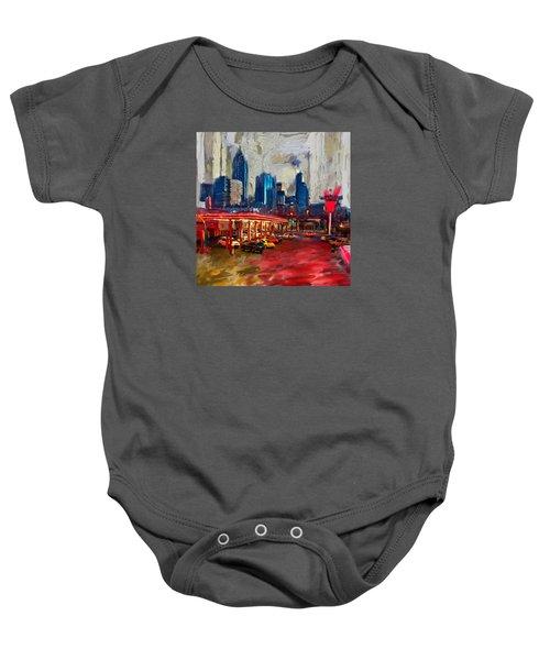 Atlanta Skyline 231 1 Baby Onesie by Mawra Tahreem