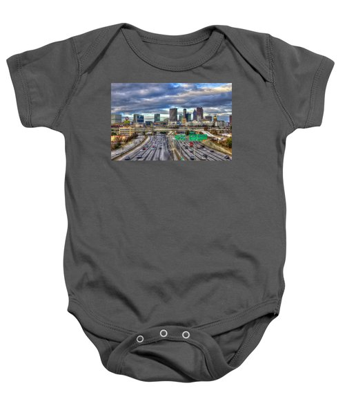 Atlanta Skyline Cityscape 3 Downtown Atlanta Art Baby Onesie