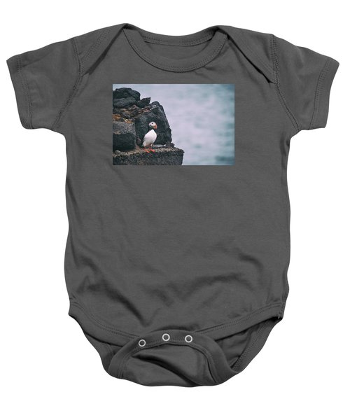 Atlantic Puffin Baby Onesie by Happy Home Artistry