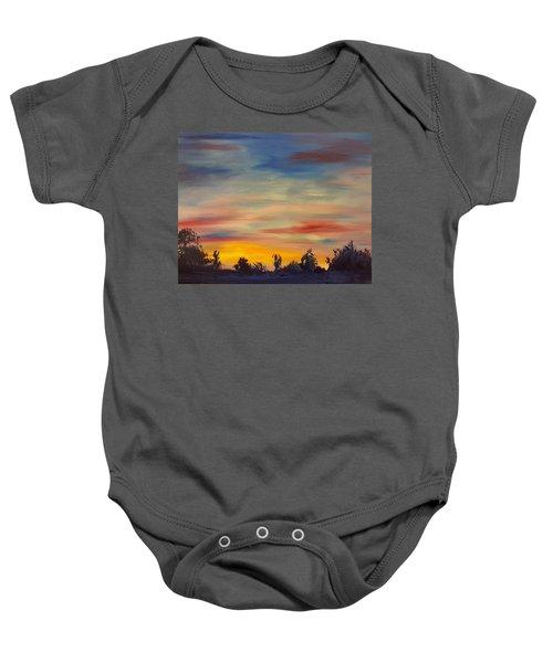 August Sunset In Sw Montana Baby Onesie