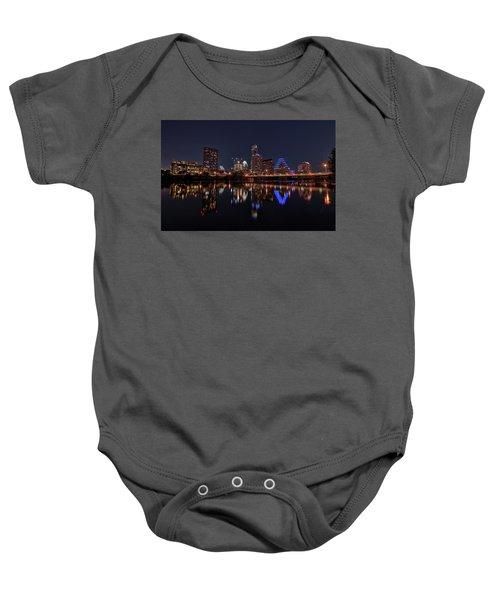 Austin Skyline At Night Baby Onesie