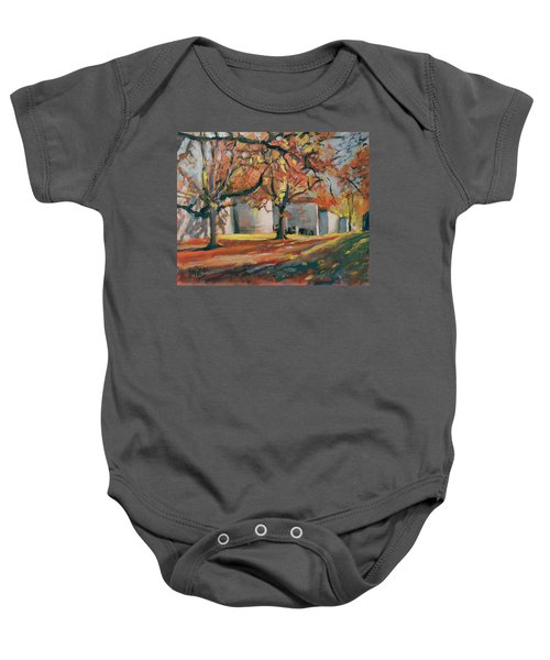 Autumn Along Maastricht City Wall Baby Onesie
