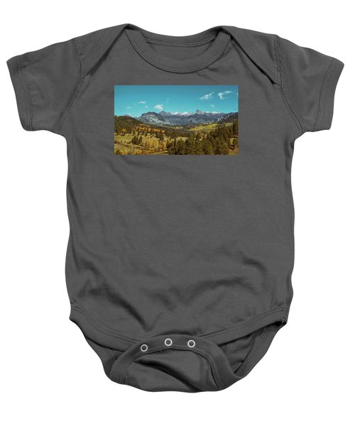 Autumn At The Weminuche Bells Baby Onesie